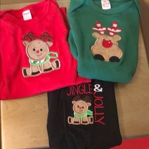 New Christmas Onesie Outfits Sz. 12-18 Months